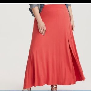 Torrid knit maxi skirt - peach pink 2x
